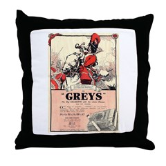 Greys Cigs Throw Pillow