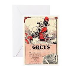 Greys Cigs Greeting Cards (Pk of 10)