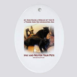 Spay and Neuter Oval Ornament