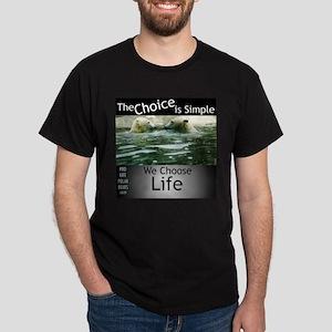 Pro-Life Polar Bears Dark T-Shirt