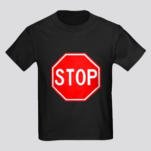 Stop Sign Kids Dark T-Shirt