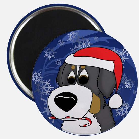 Candy Cane Bernese Mountain Dog Christmas Magnet