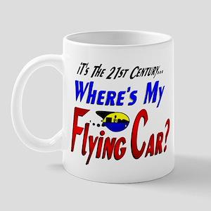 Funny Flying Car Future Mug