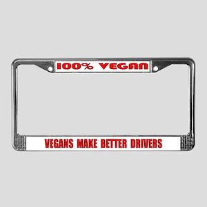 100% Vegan License Plate Frame