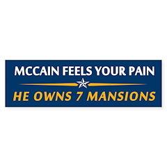 McCain 7 Mansions Bumper Bumper Sticker