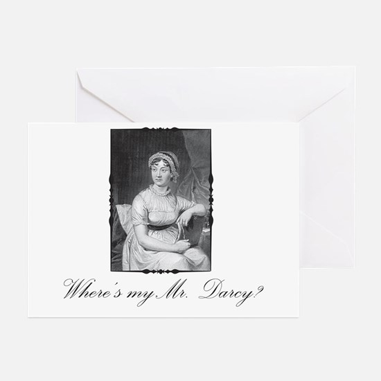 Where's My Mr. Darcy Greeting Cards (Pk of 10)