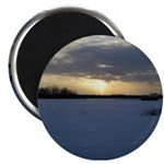 "Winter Sunset 0238 2.25"" Magnet (10 pack)"