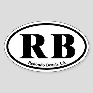 Redondo Beach RB Euro Oval Oval Sticker