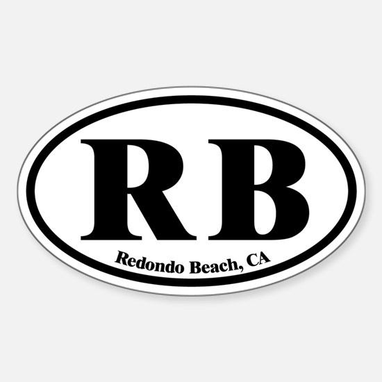 Redondo Beach RB Euro Oval Oval Decal