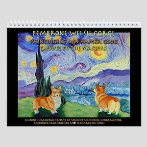 Pembroke Welsh Corgi Wall Calendar