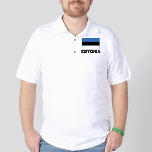 Estonia Flag Golf Shirt