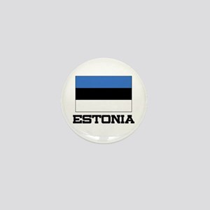 Estonia Flag Mini Button
