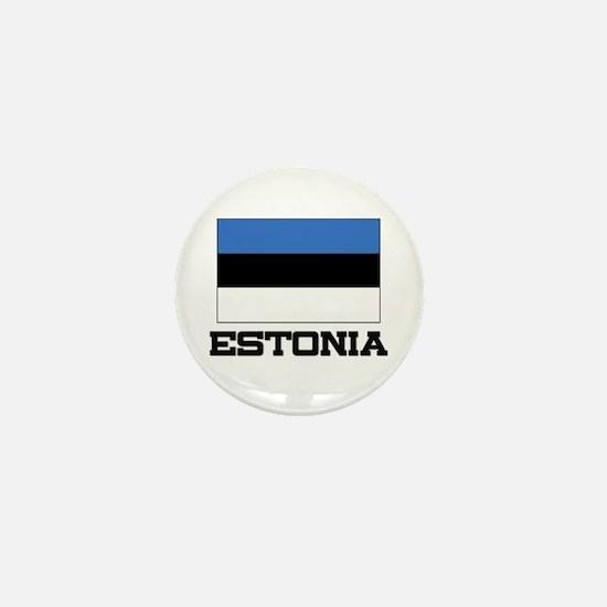 Estonia Flag Mini Button