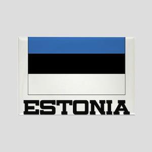 Estonia Flag Rectangle Magnet