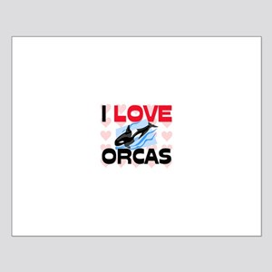 I Love Orcas Small Poster