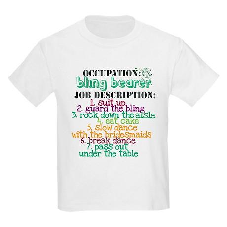Occupation Bling Bearer Green Kids Light T-Shirt