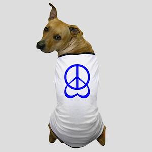 Groovy 60's Peace Love Heart Dog T-Shirt