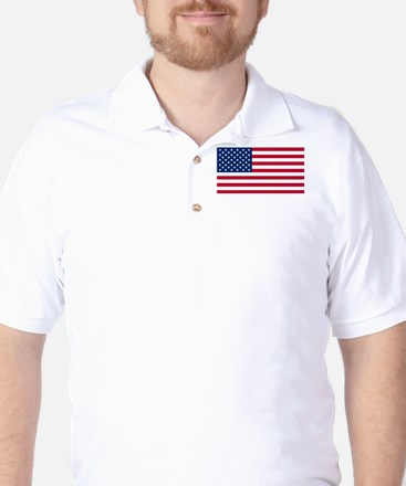 USA Flag Golf Shirt