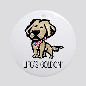 Life's Golden USA Keepsake (Round)