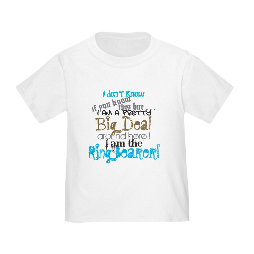 4fb55a27 CafePress Big Deal Ring Bearer Toddler T Shirt Toddler T-Shirt ...