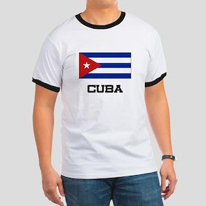 Cuba Flag Ringer T