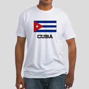 Cuba Flag Fitted T-Shirt