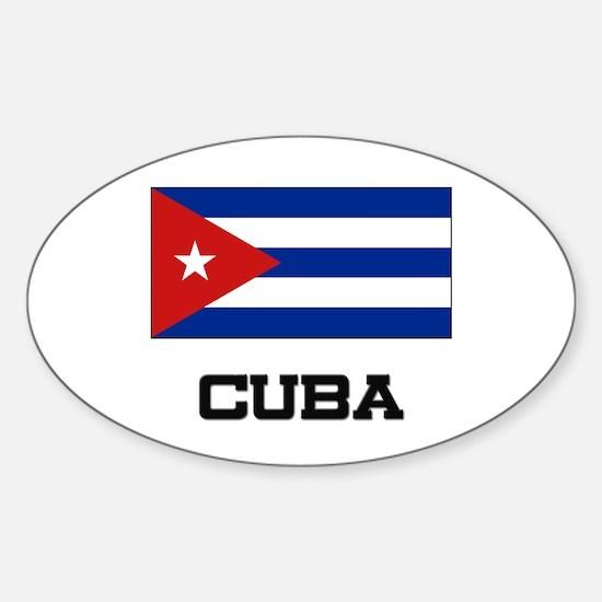 Cuba Flag Oval Decal