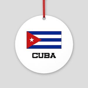 Cuba Flag Ornament (Round)