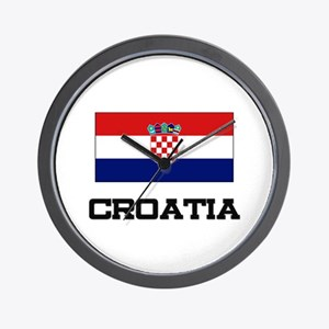 Croatia Flag Wall Clock