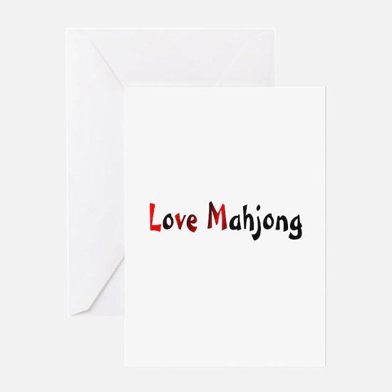 Love Mahjong Greeting Card