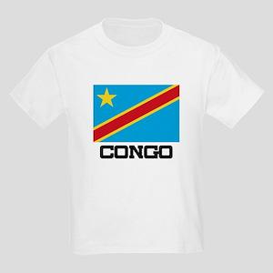 Congo Flag Kids Light T-Shirt