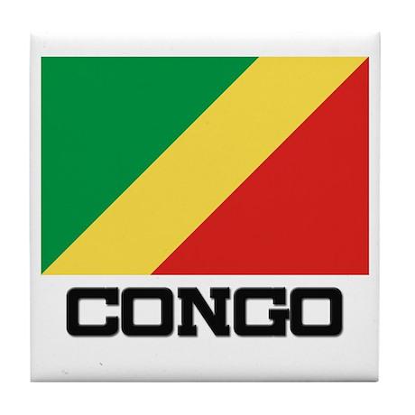Congo Flag Tile Coaster