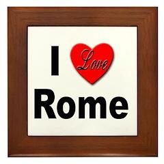 I Love Rome Italy Framed Tile