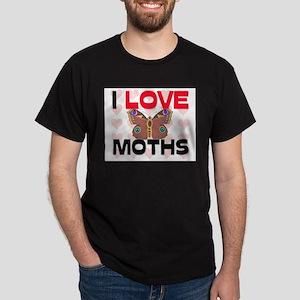 I Love Moths Dark T-Shirt