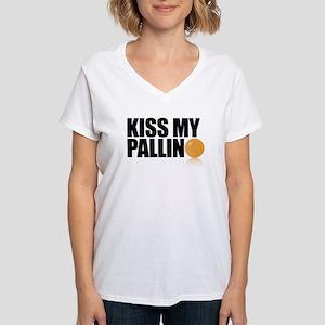 Kiss My Pallino Women's V-Neck T-Shirt