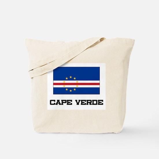 Cape Verde Flag Tote Bag