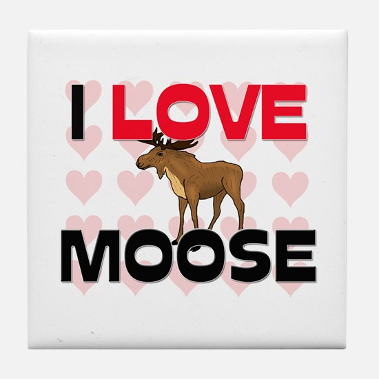 I Love Moose Tile Coaster