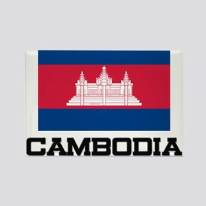 Cambodia Flag Rectangle Magnet