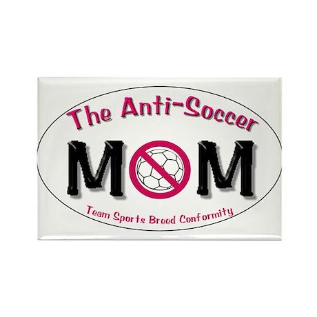 Anti-Soccer Moms Rectangle Magnet