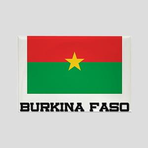 Burkina Faso Flag Rectangle Magnet
