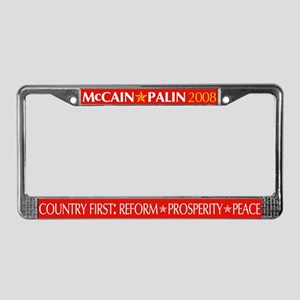 McCain-Palin License Plate Frame (red)