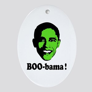 Halloween Boo Obama Ornament (Oval)