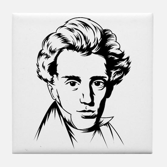 Strk3 Soren Kierkegaard Tile Coaster