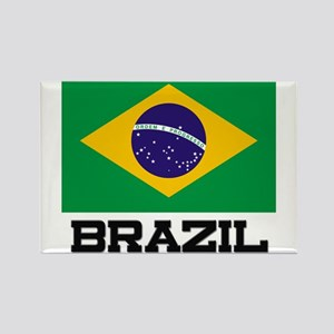 Brazil Flag Rectangle Magnet