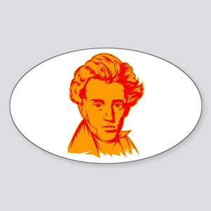 Strk3 Soren Kierkegaard Oval Sticker