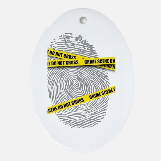 CRIME SCENE! Oval Ornament
