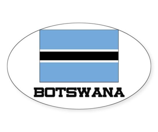 Botswana flag oval decal