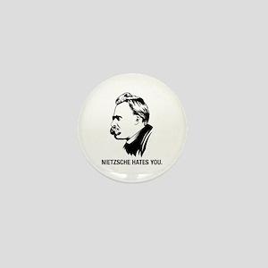 Nietzsche Hates You. Mini Button