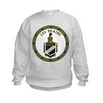 USS BRAINE Kids Sweatshirt