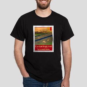 CROOKED SHADOW Dark T-Shirt